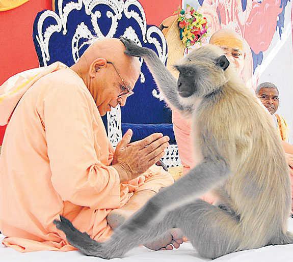 Hanumanji Blessing the Sant